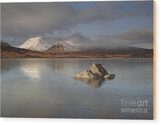 Black Mount And Lochan Na H-achlaise Wood Print