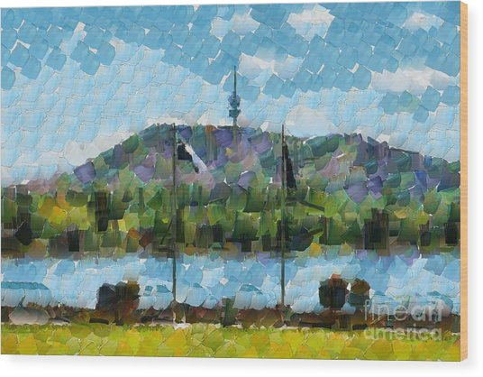 Black Mountain View Wood Print