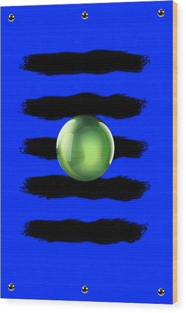 Black N' Blue Wood Print by Brian Lyne