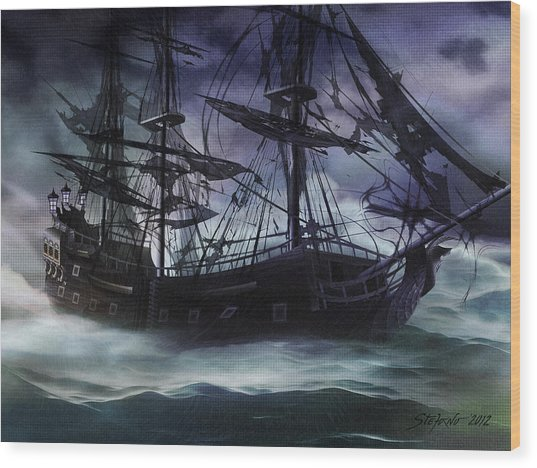 Black Pearl - Troubles Again Wood Print