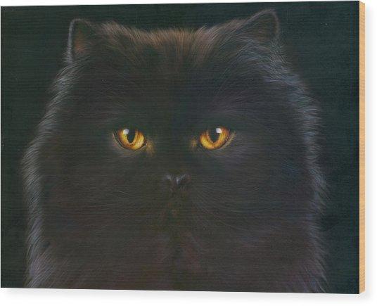 Black Persian Wood Print