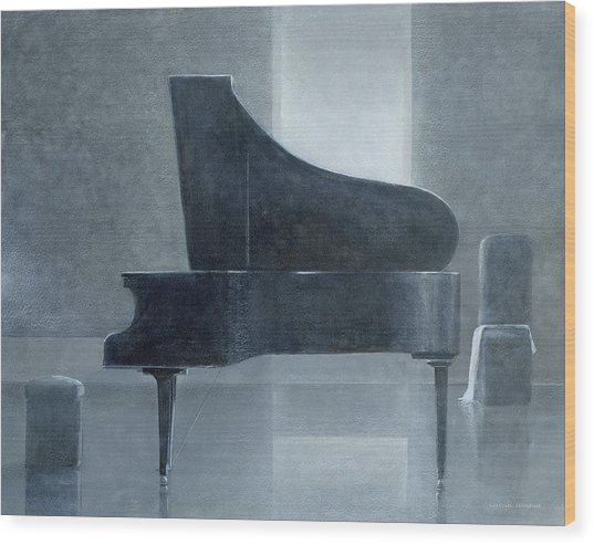 Black Piano 2004 Wood Print
