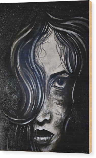 Black Portrait 5 Wood Print