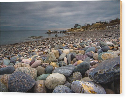 Black Rock Beach Wood Print