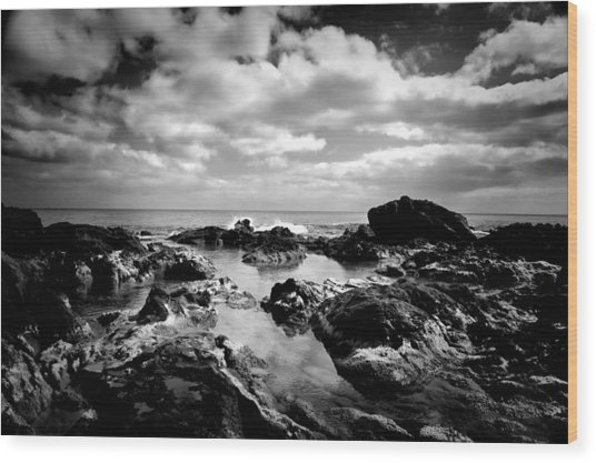 Black Rocks 1 Wood Print