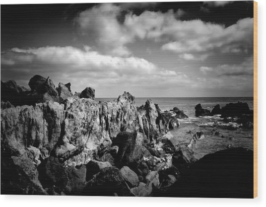 Black Rocks 3 Wood Print