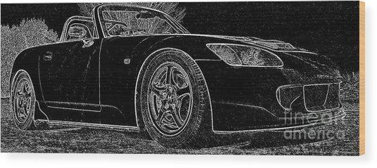 Black S2000 Wood Print