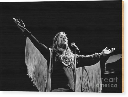 Black Sabbath Ozzy 1977 #2 Wood Print