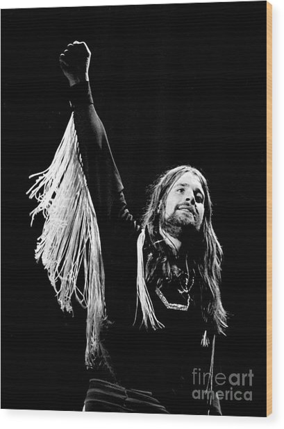 Black Sabbath Ozzy 1977 Wood Print