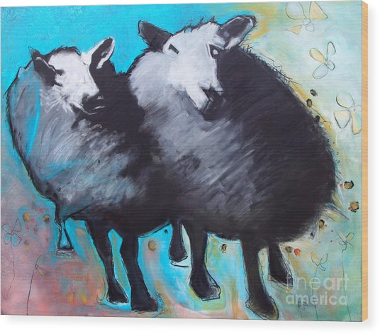 Black Sheep Wood Print