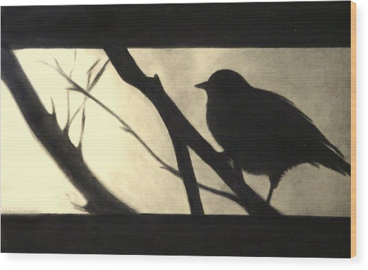 Black Side Beauty Wood Print by Atinderpal Singh