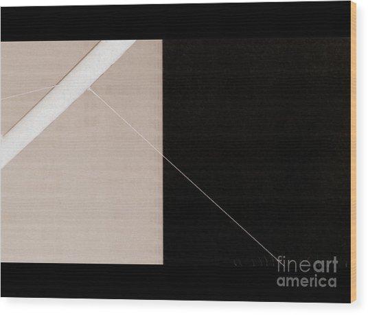 Black Slash Beige Wood Print
