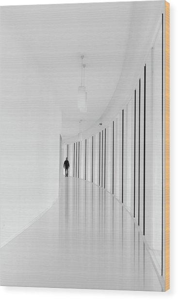 Black Strips Wood Print by Jo?o Castro