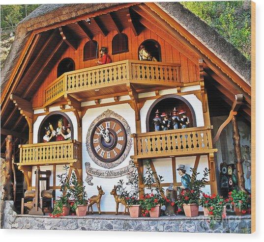 Blackforest Cuckoo Clock Wood Print