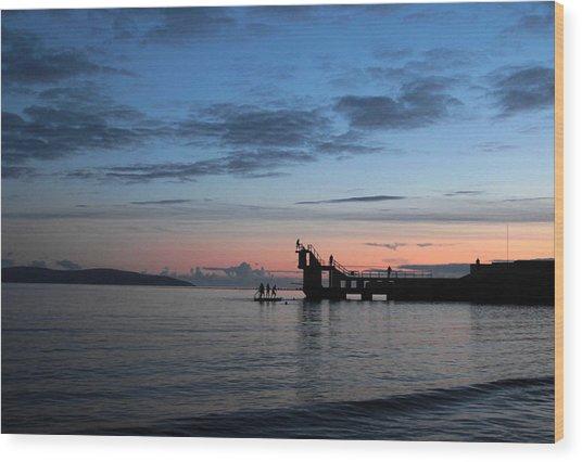 Blackrock After Sunset Wood Print by Peter Skelton