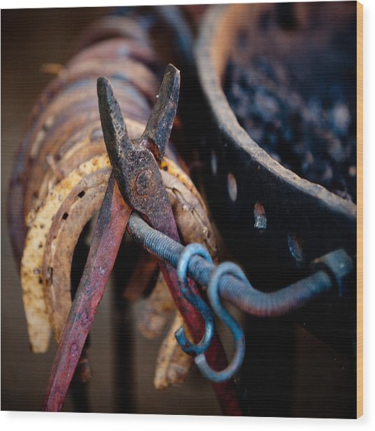 Blacksmith Tools Wood Print