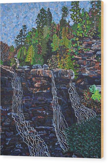 Blackwater Falls Wood Print by Micah Mullen