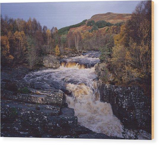 Blackwater Falls - Scotland Wood Print