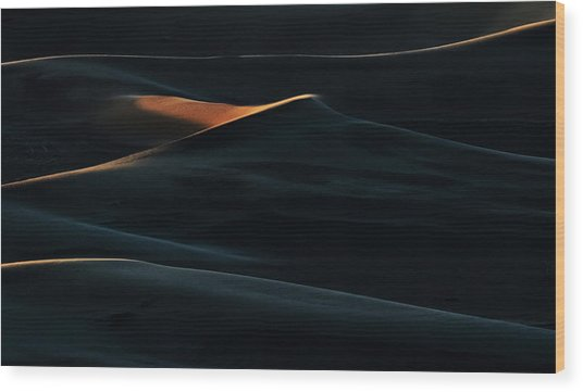 Blades Of Light Wood Print by Mohammad Shefaa