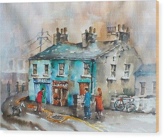 Blakes Corner Ennistymon Clare Wood Print
