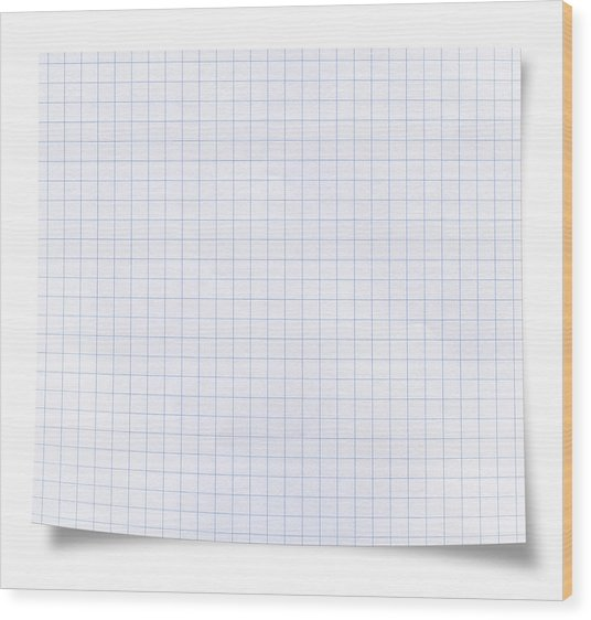 Blank Square Rules Lined Paper Wood Print by Tolga TEZCAN