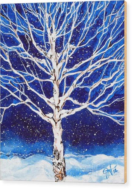 Blanket Of Stillness Wood Print