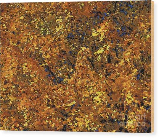 Blast Of Autumn Wood Print