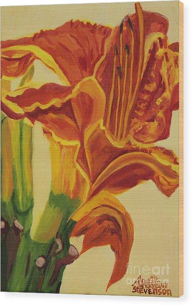 Blazing Glory Wood Print