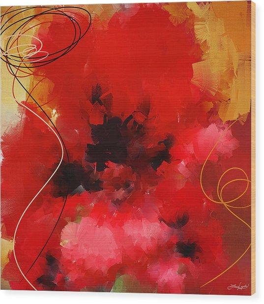 Blazingly Poppies Wood Print