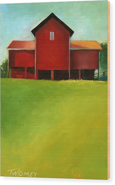 Bleak House Barn 2 Wood Print