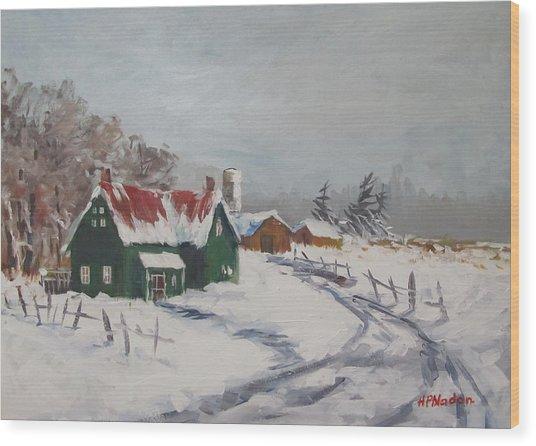 Bleak Winter Wood Print