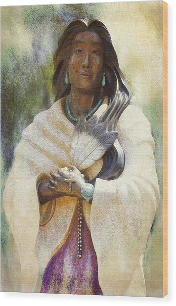 Blessed Kateri Tekakwitha  Wood Print