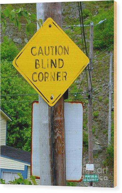Blind Corner Wood Print