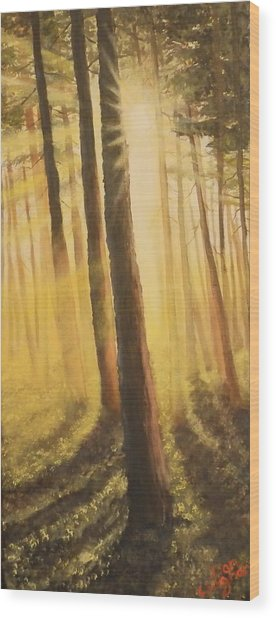 Blinded Wood Print