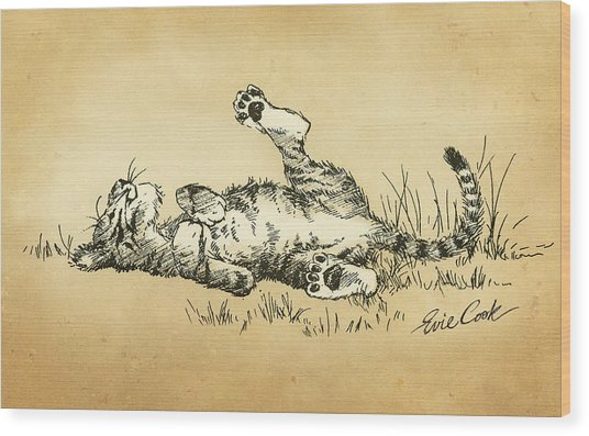 Bliss In The Grass Wood Print