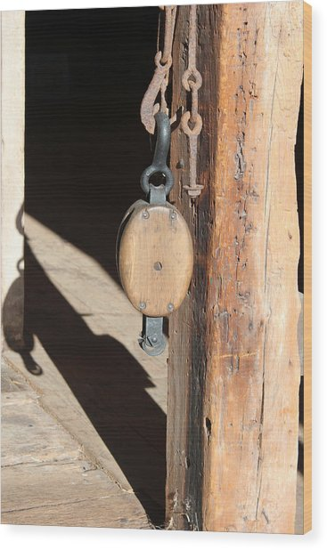 Block And Tackle 1 Wood Print by Mary Bedy