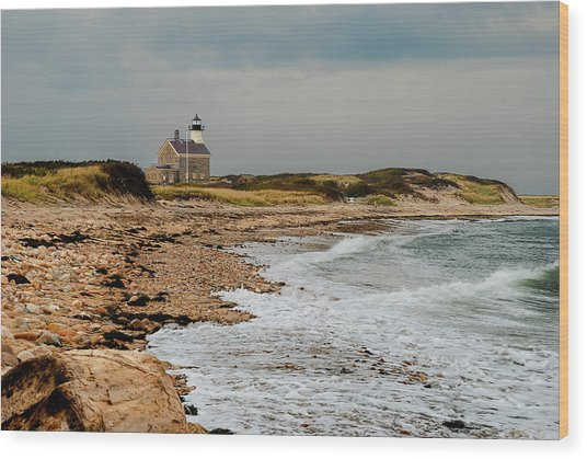 Block Island North Lighthouse  Wood Print