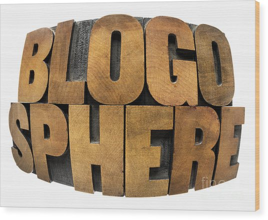 Blogosphere  Wood Print