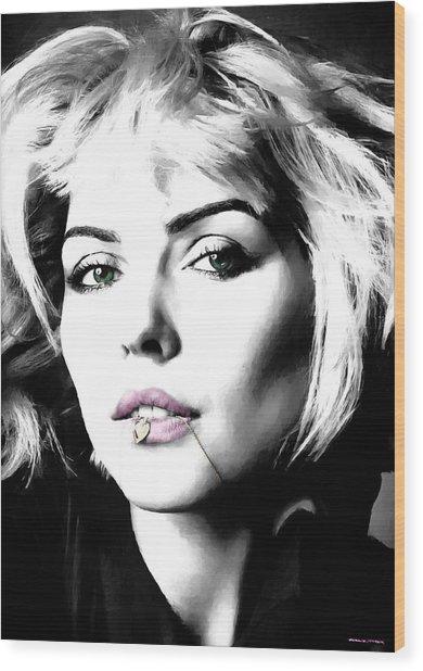 Blondie Large Size Portrait Wood Print