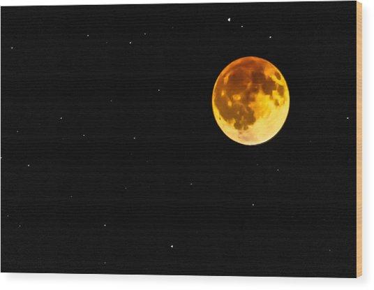 Blood Eclipse Wood Print