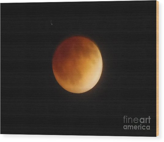 Blood Moon Wood Print by Eclectic Captures