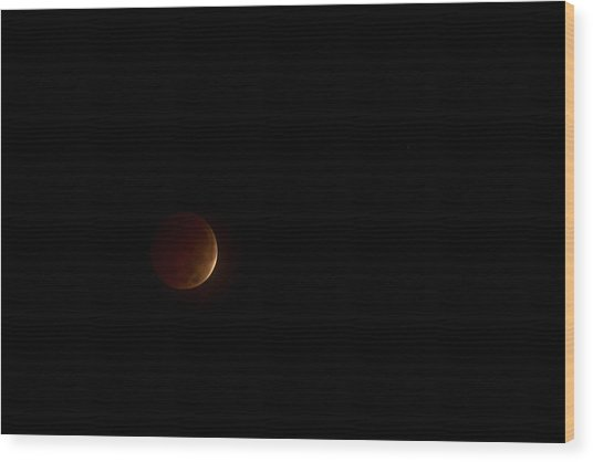 Blood Moon Wood Print