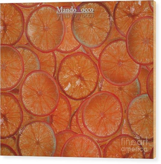 Blood Orange Wood Print