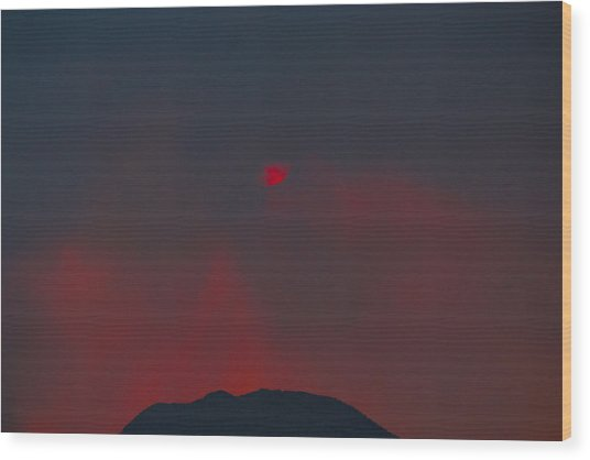 Blood Sun Wood Print