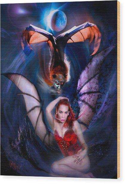 Blood Wings Wood Print