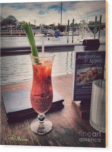Bloody Mary With A View Wood Print