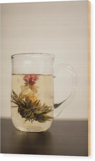 Blooming Tea Wood Print