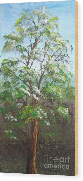 Blooming Tree Wood Print by Roni Ruth Palmer