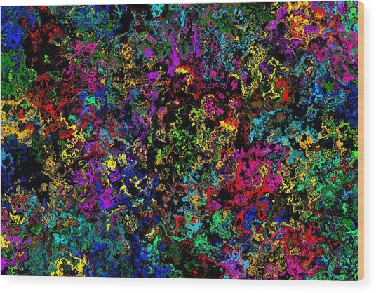 Bloop Nebula Wood Print