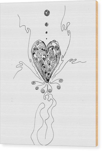Blossoming Love Wood Print